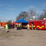 photograph of Exercise Watermark Glos Fire & Rescue Communications vehicle